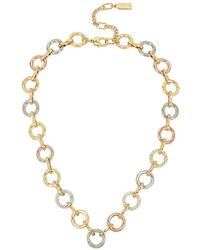 Kenneth Cole - Tri-tone Link Collar Necklace - Lyst