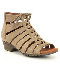 Rockport Cobb Hill Gabby Ghillie Block Heel Sandals Td012