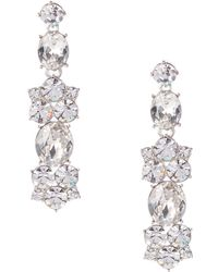 Givenchy - Crystal Large Cluster Drop Earrings - Lyst