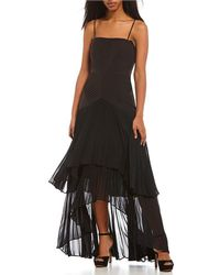 Laundry by Shelli Segal - Strapless Tiered Pleated Dress - Lyst