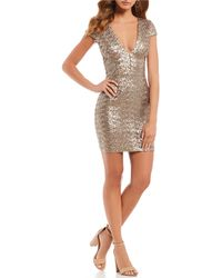 Dress the Population - Zoe Sequin Body-con Dress - Lyst