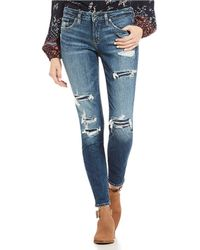 Silver Jeans Co. - Aiko Destructed Skinny Jeans - Lyst