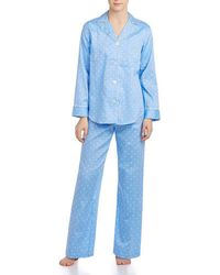 Lauren by Ralph Lauren - Classic Notch-collar Sateen Pajamas - Lyst