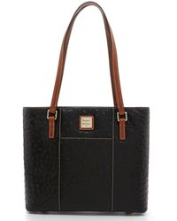 Dooney & Bourke - Ostrich Collection Small Lexington Colorblock Tote - Lyst