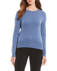 Antonio Melani - Luxury Collection Chloe Cashmere Crew Neck Sweater - Lyst