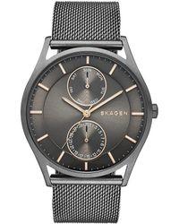 Skagen - Holst Men ́s Grey Stainless Steel Mesh Bracelet Watch - Lyst