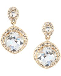 Belle By Badgley Mischka - Faceted Stone Squared Drop Earrings - Lyst