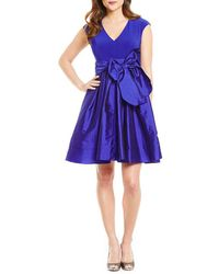 Adrianna Papell | Petite Tafetta Fit And Flare Party Dress | Lyst