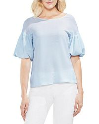 Vince Camuto - Printed Balloon Sleeve Blouse - Lyst
