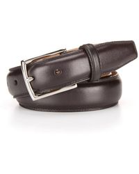 Cole Haan | Full Dome Stitched Leather Belt | Lyst