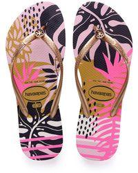 Havaianas - Slim Foliage Flip Flops - Lyst