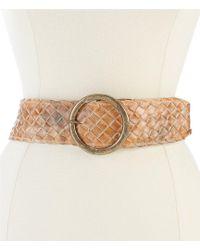 Bed Stu - Dreamweaver Wide Woven Leather Belt - Lyst