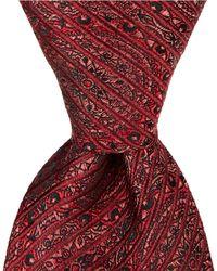 c27c23f2f276 Oscar de la Renta Boys Plaid Flannel Tie Red in Red for Men - Lyst