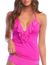826617d250a07 Lucky Brand Primitive Punch Tankini Top in Purple - Lyst