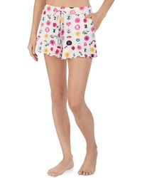 Betsey Johnson - Icons & Love Printed Ruffled-hem Sleep Shorts - Lyst