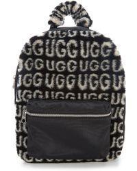 UGG - Dannie Faux-fur Logo Backpack - Lyst
