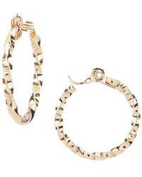 Anne Klein   Twist Hoop Clip-on Earrings   Lyst