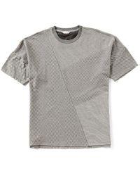 CALVIN KLEIN 205W39NYC - Allover Linear Print Short-sleeve Tee - Lyst