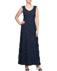 Alex Evenings - A-line Rosette Gown - Lyst
