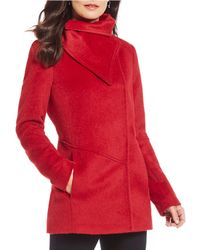 3e490758eb5c Katherine Kelly - Asymmetrical Envelope Collar Wool Blend Coat - Lyst