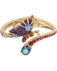 Betsey Johnson - Butterfly Hinged Bangle Bracelet - Lyst