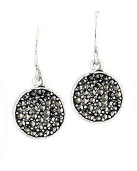 Kenneth Cole - Marcasite Paddle Earrings - Lyst