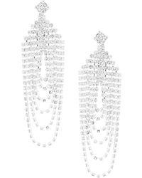 Cezanne - Loops Chandelier Earrings - Lyst