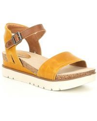 Josef Seibel Clea 01 Leather Sandals - Yellow