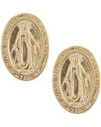 Argento Vivo - Faith Stud Button Earrings - Lyst