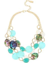 Kenneth Cole - Mixed Shell Multi Row Necklace - Lyst