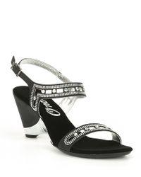 Onex - Whitney Nubuck Leather Jeweled Sandals - Lyst