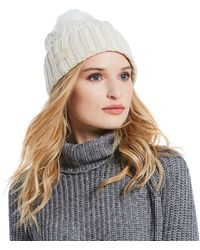 UGG - Ladies' Cable Pom Beanie - Lyst
