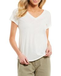 Comune | Michelle By Beverly Short Sleeve V Neck Tee | Lyst