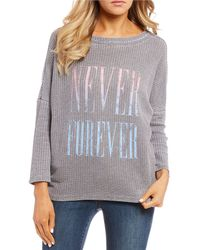 "William Rast - Sir ""never Forever"" Long Sleeve Thermal Graphic Tee - Lyst"