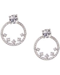 Givenchy - Pave Hoop Floater Earrings - Lyst