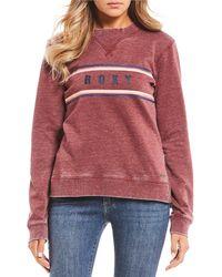 Roxy - True Grace Burnout Wash Sweatshirt - Lyst