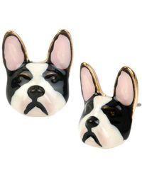 Betsey Johnson | Bulldog Stud Earrings | Lyst