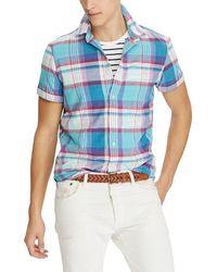 Polo Ralph Lauren - Madras Plaid Classic-fit Short-sleeve Woven Shirt - Lyst