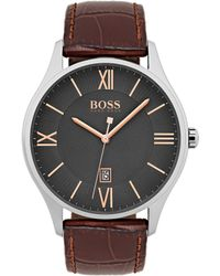 BOSS - 1513484 44mm Stainless Steel Governor Watch - Lyst