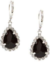 Cezanne Rhinestone Framed Pear Drop Earrings