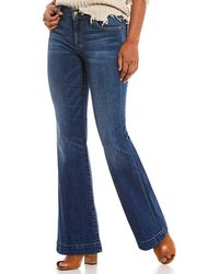 7 For All Mankind - Tailorless Dojo Flare Leg Jeans - Lyst