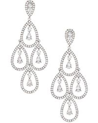 Nadri - Kite Cubic Zirconia Chandelier Earrings - Lyst