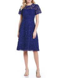 Antonio Melani - Lace Short Sleeve Justice Dress - Lyst