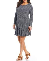 b47510d2529 MICHAEL Michael Kors - Ditsy Floral Print Tiered Flounce Dress - Lyst