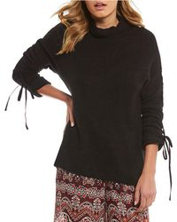 Chelsea & Violet - Turtleneck Tie Sleeve Sweater - Lyst
