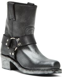 Frye - Harness 8r Engineer Leather Block Heel Boots - Lyst