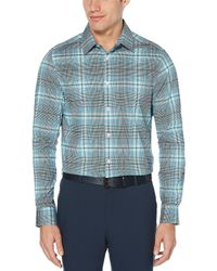 Perry Ellis - Multi-color Plaid Water-repellent Stretch Long-sleeve Woven Shirt - Lyst