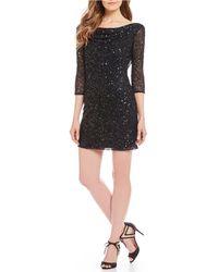 Pisarro Nights - Petite Size Cowl Beaded Dress - Lyst