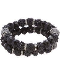 Dillard's - Glitter Bead Strand Bracelet Set - Lyst