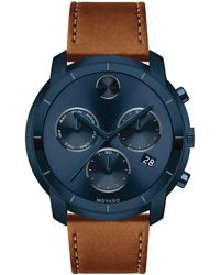Movado Bold - Chronograph & Date Leather-strap Watch - Lyst